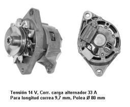 Iskra IA0037 - ALTERNADOR 12V 40A. DENSO-KUBOTA