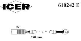 Icer 610242E - INDICAD.DESGAST.OPEL BOLS.2UD.695MM