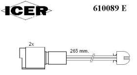 Icer 610089E - INDICAD.DESGAST.OPEL BOLS.2UD.967MM