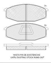 Icer 140441 - PASTILLAS DE FRENO DELANTERAS