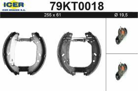 Icer 79KT0018 - KIT DE FRENOS PREMONTADO