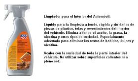 LIQUI MOLY 1547 - LIMPIADOR INTERIOR AUTOMOVILES 500 ML