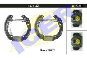 Icer 79KT0010 - KIT DE FRENOS PREMONTADO