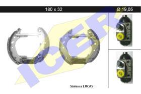 Icer 79KT0025 - KIT DE FRENOS PREMONTADO